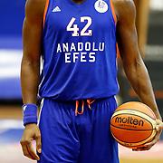 Anadolu Efes's Bryant Dunston during their Turkish Basketball Super League match Istanbul BBSK between Anadolu Efes at Cebeci Arena in Istanbul Turkey on Sunday 29 November 2015. Photo by Aykut AKICI/TURKPIX