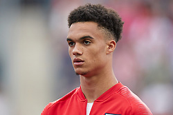 May 28, 2018 - Chester, PA, U.S. - CHESTER, PA - MAY 28: United States defender Antonee Robinson (17) looks on during the national anthem prior to the start of the international friendly match between the United States and Bolivia at the Talen Energy Stadium on May 28, 2018 in Chester, Pennsylvania. (Photo by Robin Alam/Icon Sportswire) (Credit Image: © Robin Alam/Icon SMI via ZUMA Press)