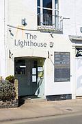 The Lighthouse restaurant entrance, Aldeburgh, Suffolk, England, UK