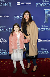 Harper Renn Smith and Tiffani Thiessen at the World premiere of Disney's 'Frozen 2' held at the Dolby Theatre in Hollywood, USA on November 7, 2019.