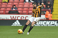 Richard Duffy of Port Vale kicks forward during the Sky Bet League 1 match between Sheffield Utd and Port Vale at Bramall Lane, Sheffield, England on 20 February 2016. Photo by Ian Lyall.