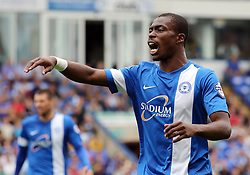 Peterborough United's Gabriel Zakuani  - Photo mandatory by-line: Joe Dent/JMP - Tel: Mobile: 07966 386802 17/08/2013 - SPORT - FOOTBALL - London Road Stadium - Peterborough -  Peterborough United V Oldham Athletic - Sky Bet League One