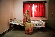 A Christian refugee woman in her room at YMCA relief comittee in Orissa's capital Bhubaneswar. Nov. 04, 2008..