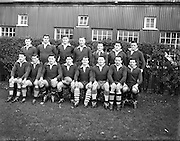 31/01/1959<br /> 01/31/1959<br /> 31st January 1959 Final Irish Rugby International Trial at Lansdowne Road, Dublin.the Blues team.