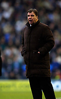 Photo: Jed Wee.<br />Bolton Wanderers v Wigan Athletic. The FA Barclaycard Premiership. 04/02/2006.<br />Bolton manager Sam Allardyce.