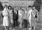 Rose of Tralee Contestants at Leinster House..1983.26.08.1983.08.26.1983.26th August 1983..Image taken of Rose of Tralee contestants in the gardens of Leinster House Dublin. The Roses were treated to a Champagne reception, by the Tanaiste, Mr Dick Spring, before their departure for Tralee,Kerry.The eventual winner of the contest, Miss Brenda Hyland from Waterford, is included in the shot.