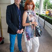 NLD/Amsterdam/20140612 - Hilton Haringparty 2014, Chazia Mourali en partner Marc Schröder