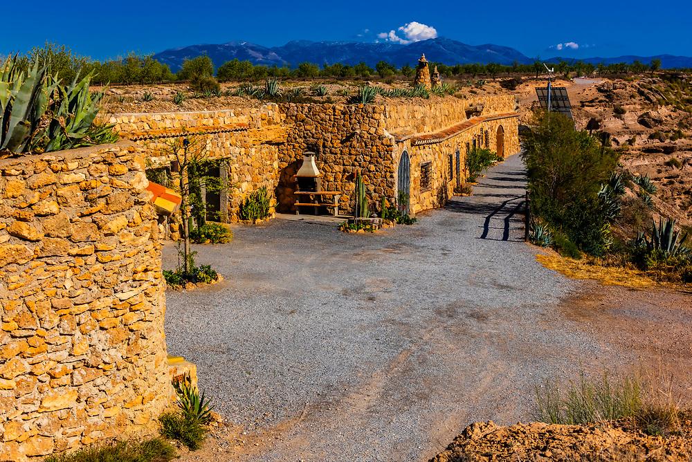 "Cave hotel ""Cuevas el Torriblanco"" near Gorife, Granada Province, Andalusia, Spain."