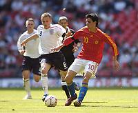 Photo: Olly Greenwood.<br />England U16 v Spain U16. International Friendly. 28/04/2007. England's Dean Parrett and Spain's Antonio Miguel de la Torre
