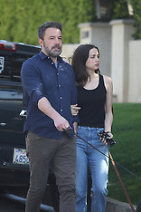 Ben Affleck and Ana de Armas were spotted walking the dogs - 1 April 2020