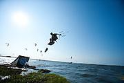 Outerbanks, NC - Jason Slezak kiteboarding at the Triple-S 2011