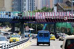 August 29, 2017 - Chongqing, Chongqing, China - Chongqing, CHINA-29th August 2017: (EDITORIAL USE ONLY. CHINA OUT) ..The most colorful overpass is under construction in southwest China's Chongqing. (Credit Image: © SIPA Asia via ZUMA Wire)