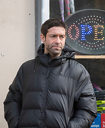 © Licensed to London News Pictures; 15/02/2021; Bristol, UK. THOMAS LEVIN as Yassen Gregorovitch, a mysterious assassin filming on location for Alex Rider. Filming takes place in Bristol for the second series of Alex Rider, a British spy thriller streaming television programme based on the novel series of the same name by Anthony Horowitz. The film stars Otto Farrant as Alex Rider, who is recruited by a subdivision of MI6 as a teenage spy to infiltrate places that others are unable to. Filming the second series has  been delayed due to coronavirus. Photo credit: Simon Chapman/LNP.