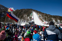 Planica Hill during the Ski Flying Hill Individual Qualification at Day 1 of FIS Ski Jumping World Cup Final 2018, on March 22, 2018 in Planica, Ratece, Slovenia. Photo by Urban Urbanc / Sportida