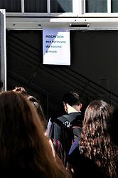 July 6, 2018 - Paris, France - Les eleves du lycee technologique Auguste Renoir decouvrent leur resultat de leur bacalaureat (Credit Image: © Panoramic via ZUMA Press)