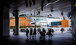 The entrance to Grand Central - a shopping centre located in Birmingham, England.  It is built directly over New Street railway station and also connects to the Bullring.<br /> <br /> (c) Andrew Wilson | Edinburgh Elite media