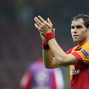 Galatasaray's Johan Elmander during their UEFA Champions League Group H matchday 2 soccer match Galatasaray between Braga at the TT Arena Ali Sami Yen Spor Kompleksi in Istanbul, Turkey on Tuesday 02 October 2012. Photo by Aykut AKICI/TURKPIX