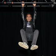 Aziz Ansari backstage at the MGM National Harbor.