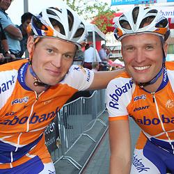 rSportfoto archief 2006-2010<br /> 2010<br /> Twentse renners Posthuma en Stamsnijde
