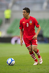 DUBLIN, REPUBLIC OF IRELAND - Friday, May 27, 2011: Wales' Neil Taylor in action against Northern Ireland during the Carling Nations Cup match at the Aviva Stadium (Lansdowne Road). (Photo by David Rawcliffe/Propaganda)