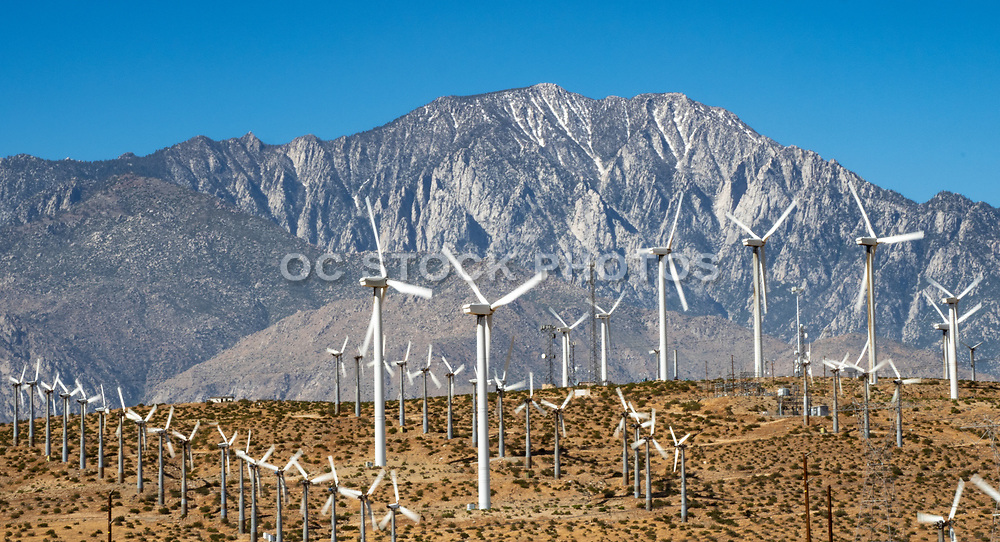 Desert Mountains and the Iconic Windmills