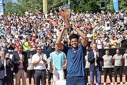 May 27, 2017 - Lyon - Parc Tete D'Or, France - Joie de Jo-Wilfried Tsonga (Credit Image: © Panoramic via ZUMA Press)