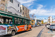 San Diego's Best Tour Trolley Approaching Little Italy