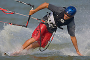 Kite boarding on Lake Michigan near Baileys Harbor, Wisconsin in Door County.  (Photo/Mike Roemer)
