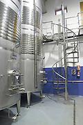 stainless steel tanks Bodega Agribergidum, DO Bierzo, Pieros-Cacabelos spain castile and leon
