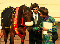 File photo dated 10-09-1991 of The Princess Royal with former Grand National winner Red Rum and his groom Andrew Kempster.