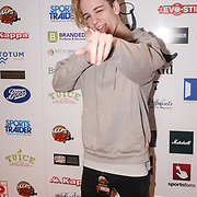 London,England,UK. 14th May 2017. Singer Cal Turner attend the BBL Play-Off Finals also fundraising for Hoops Aid 2017 but also a major fundraising opportunity for the Sports Traider Charity at London's O2 Arena, UK. by See Li