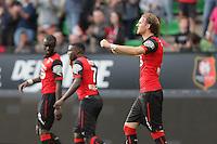 JOIE RENNES  / Ola TOIVONEN - 12.04.2015 - Rennes / Guingamp - 32eme journee de Ligue 1 <br />Photo : Vincent Michel / Icon Sport