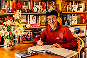 Stephen Venables , First British mountaineer to climb Everest without oxygen, author signing his 12 books , Christchurch, New Zealand