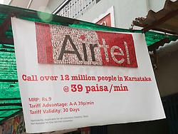 Airtel mobile phone advert, Mysore