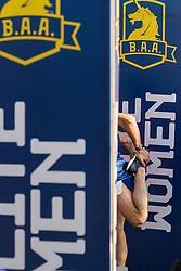 Boston Marathon: BAA 5K road race elite runner warmup