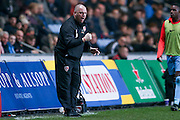 Morecambe Manager Jim Bentley  during the The FA Cup match between Coventry City and Morecambe at the Ricoh Arena, Coventry, England on 15 November 2016. Photo by Simon Davies.