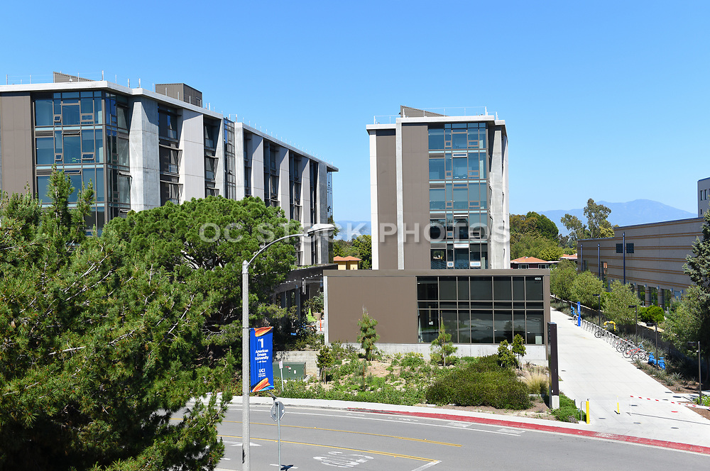 Mesa Court Residence Halls Viewed Rrom the Parking Structure, at University of California Irvine