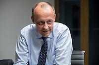08 NOV 2018, BERLIN/GERMANY:<br /> Friedrich Merz, CDU, Rechtsanwalt, Manager und Kandidat fuer das Amt des Bundesvorsitzenden der CDU, waehrend einem Interview, Pariser Platz 6a<br /> IMAGE: 20181108-03-037