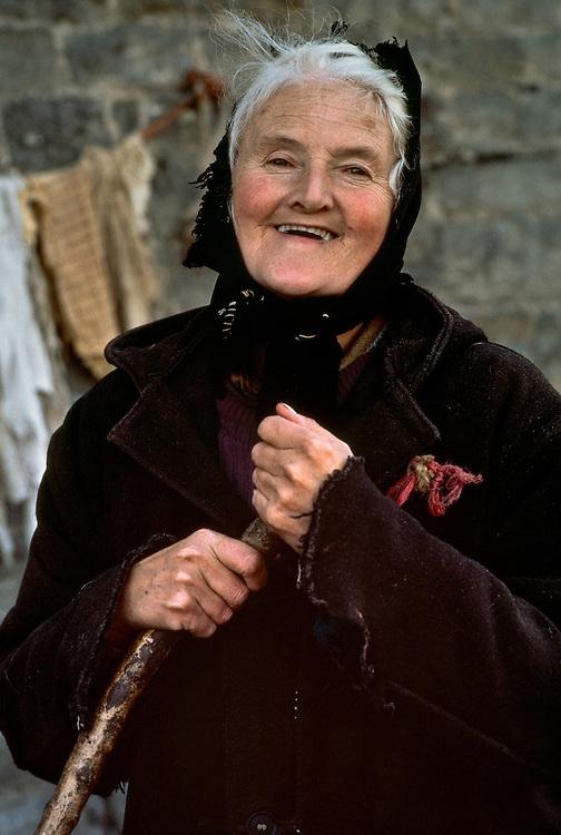 An elderly woman in northern Great Britain.