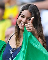06.07.2011, Commerzbank-Arena, Frankfurt, GER, FIFA Women Worldcup 2011, GRUPPE D, Equatorial Guinea (EQG) vs. Brasilien (BRA), im Bild Fan Feature  // during the FIFA Women Worldcup 2011, Pool D, Equatorial Guinea vs Bazil on 2011/07/06, Commerzbank-Arena, Frankfurt, Germany. EXPA Pictures © 2011, PhotoCredit: EXPA/ nph/  Roth       ****** out of GER / CRO  / BEL ******