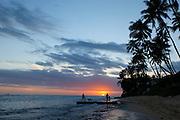 Sunset, Diamond Head Beach, Oahu, Hawaii