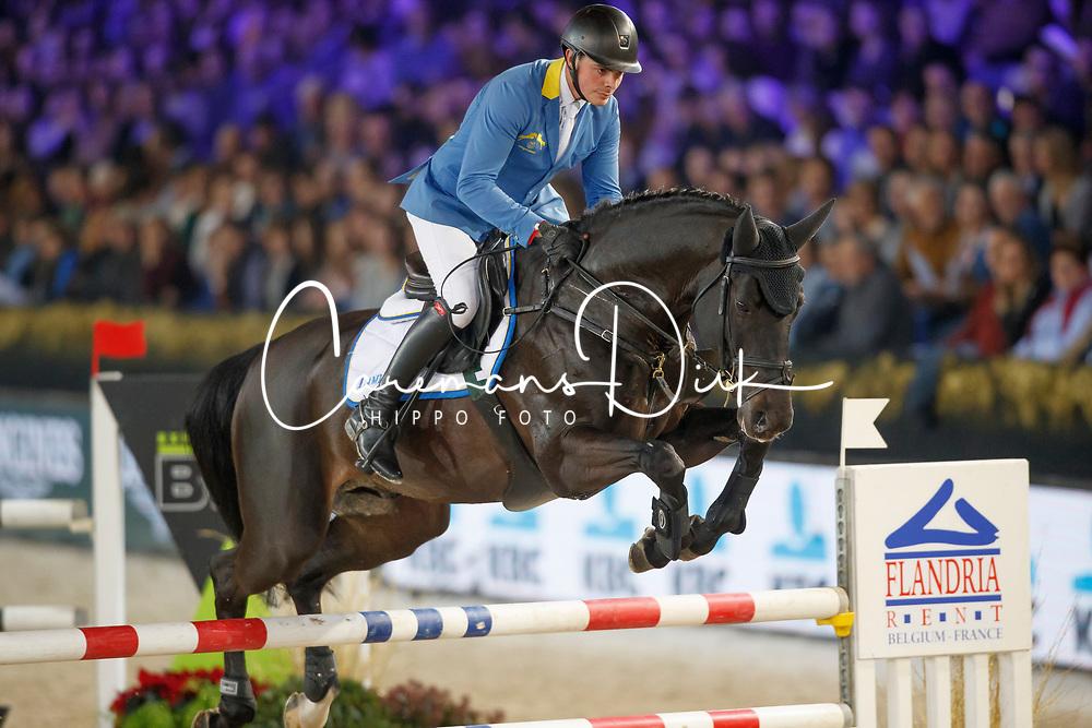 Van Olst Mike, BEL, Solid Gold Z<br /> Vlaanderens Kerstjumping<br /> Memorial Eric Wauters<br /> Jumping Mechelen 2017<br /> © Hippo Foto - Dirk Caremans<br /> 27/12/2017
