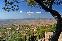 View over the Tuscan countryside from Volterra, Siena, Italy. 200409190032.<br /> <br /> Copyright Image from Victor Patterson, Belfast, UK<br /> <br /> t: +44 28 9066 1296 (from Rep of Ireland 048 9066 1296)<br /> m: +44 7802 353836<br /> e: victorpattersonbelfast@gmail.com<br /> <br /> www.images4media.com<br /> <br /> Please see my full Terms and Conditions of Use at https://www.images4media.com/p/terms-conditions - it is IMPORTANT that you familiarise yourself with them.<br /> <br /> Images used online incur an additional cost. This cost should be agreed in writing in advance. Online images must be visibly watermarked i.e. © Victor Patterson or that of the named photographer within the body of the image. The original metadata must not be deleted from images used online.<br /> <br /> This image is only available for the use of the download recipient i.e. television station, newspaper, magazine, book publisher, etc, and must not be passed on to a third party. It is also downloaded on condition that each and every usage is notified within 7 days to victorpattersonbelfast@gmail.com.<br /> <br /> The right of Victor Patterson (or the named photographer) to be identified as the author is asserted in accordance with The Copyright Designs And Patents Act (1988). All moral rights are asserted.