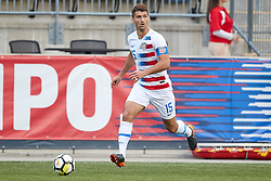 May 28, 2018 - Chester, PA, U.S. - CHESTER, PA - MAY 28: United States defender Eric Lichaj (15) dribbles the ball during the international friendly match between the United States and Bolivia at the Talen Energy Stadium on May 28, 2018 in Chester, Pennsylvania. (Photo by Robin Alam/Icon Sportswire) (Credit Image: © Robin Alam/Icon SMI via ZUMA Press)