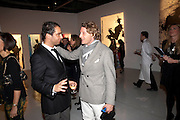 ANDY VALMORBIDA; LAPO ELKANN, Richard Hambleton private view.- New York- Godfather of Street art presented by Vladimir Restoin Roitfeld and Andy Valmorbida in collaboration with Giorgio armani. The Old Dairy. London. 18 November 2010. -DO NOT ARCHIVE-© Copyright Photograph by Dafydd Jones. 248 Clapham Rd. London SW9 0PZ. Tel 0207 820 0771. www.dafjones.com.