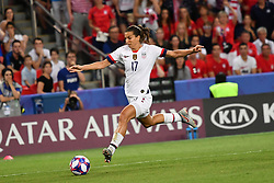 June 28, 2019 - Paris, ile de france, France - Tobin HEATH (USA) in action during the second period of the quarter-final between FRANCE vs USA in the 2019 women's football World cup at Parc des Princes in Paris, on the 28 June 2019. (Credit Image: © Julien Mattia/NurPhoto via ZUMA Press)