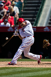 June 3, 2018 - Anaheim, CA, U.S. - ANAHEIM, CA - JUNE 03: Los Angeles Angels first baseman Albert Pujols (5) during the MLB regular season game against the Texas Rangers on June 03, 2018 at Angel Stadium of Anaheim in Anaheim, CA. (Photo by Ric Tapia/Icon Sportswire) (Credit Image: © Ric Tapia/Icon SMI via ZUMA Press)