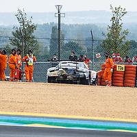 #88, Porsche 911 RSR, Dempsey-Proton Racing, drivers: Dominique Bastien, Adrien De Leener, Thomas Prening, LM GTE Am, at the Le Mans 24H, 2020, 19 September 2020