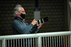 Photographer Ruud in action during the quarter cupfinal between Taurus vs. Sliedrecht Sport on April 02, 2021 in sports hall De Kruisboog, Houten