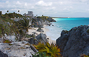 The Mayans choose the best location along the Caribbean Sea  to build the City of Tulum. Ancient Mayan cities like Tulum, The City of Dawn, in Mexico were built with mud, limestone, stone, wood, and thatch.